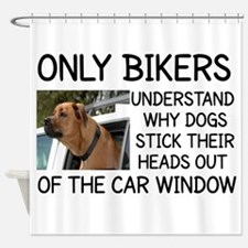 ONLY BIKERS UNDERSTAND WHY DOGS STI Shower Curtain