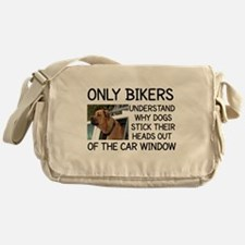 ONLY BIKERS UNDERSTAND WHY DOGS STIC Messenger Bag