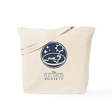 The Flat Earth Society Logo Tote Bag