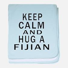 Keep Calm And Fijian Designs baby blanket