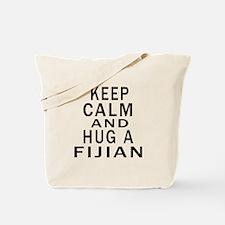 Keep Calm And Fijian Designs Tote Bag