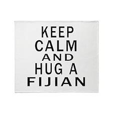 Keep Calm And Fijian Designs Throw Blanket