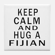 Keep Calm And Fijian Designs Tile Coaster