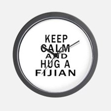 Keep Calm And Fijian Designs Wall Clock