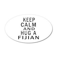 Keep Calm And Fijian Designs Wall Decal