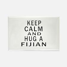 Keep Calm And Fijian Designs Rectangle Magnet