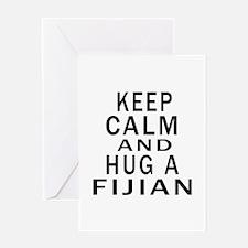Keep Calm And Fijian Designs Greeting Card