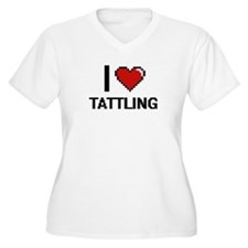 I love Tattling Digital Design Plus Size T-Shirt