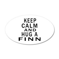 Keep Calm And Finn or Finnis 35x21 Oval Wall Decal