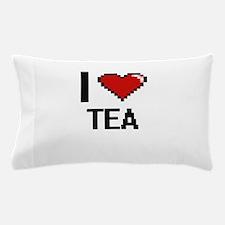 I love Tea Digital Design Pillow Case