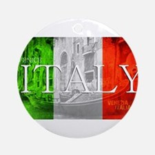 VENICE ITALY GONDOLA Round Ornament