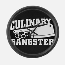 Culinary Gangster Large Wall Clock
