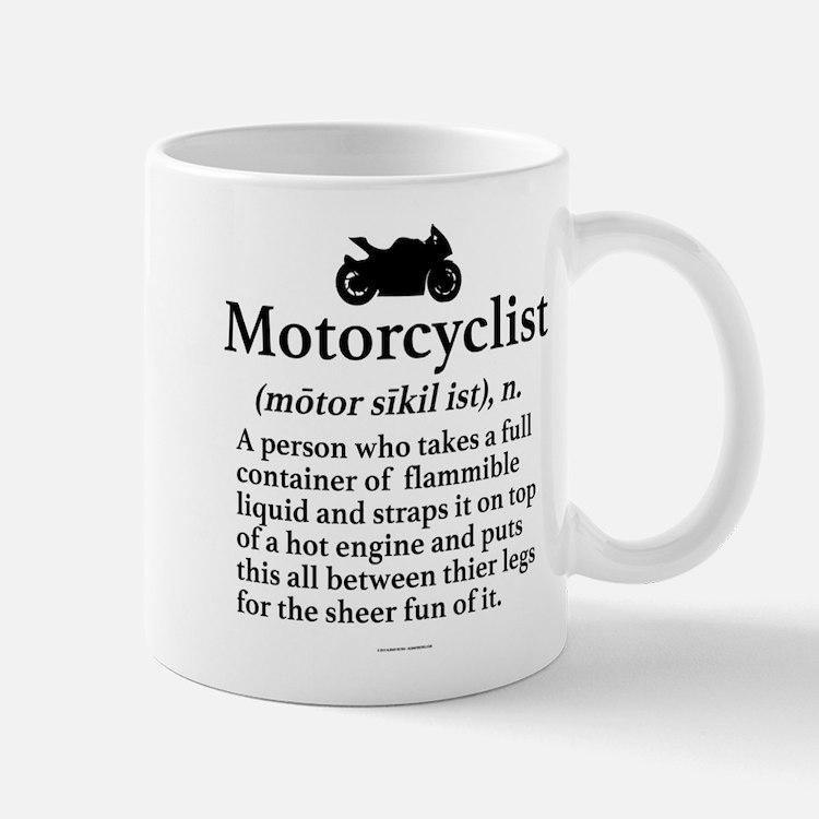 Motorcyclist Definition Mugs