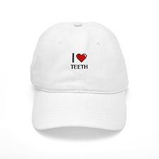 I Love Teeth Digital Design Baseball Cap