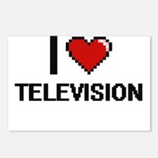 I love Television Digital Postcards (Package of 8)
