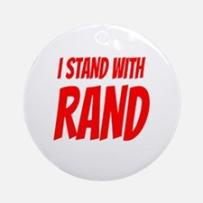 I Stand With Rand Round Ornament
