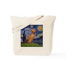 Starry Night & Vizsla Tote Bag