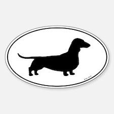 Dachshund Silhouette Sticker (Oval)