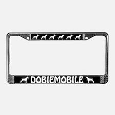 "Doberman Pinscher ""Dobiemobile"" LicensePlate Frame"