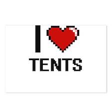 I love Tents Digital Desi Postcards (Package of 8)