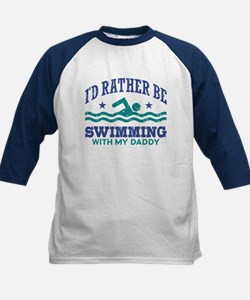 I'd Rather Be Swimming With M Kids Baseball Jersey