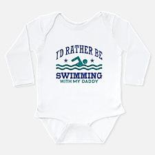 I'd Rather Be Swimming Long Sleeve Infant Bodysuit