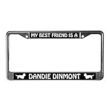 My Best Friend Is A Dandie Dinmont License Frame