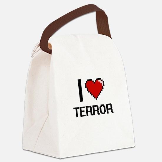 I love Terror Digital Design Canvas Lunch Bag