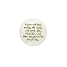 Eye On The Prize Dream BIG Design Mini Button (100