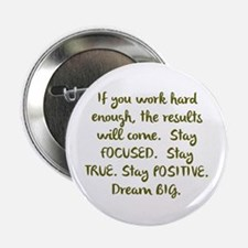 "Eye On The Prize Dream BIG Design 2.25"" Button (10"
