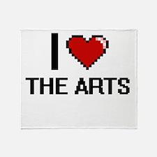 I Love The Arts Digital Design Throw Blanket