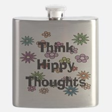 Think Hippy Thoughts Flask