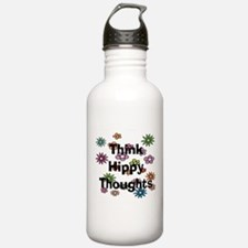 Think Hippy Thoughts Water Bottle