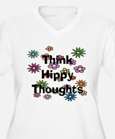 Think Hippy Thoughts Plus Size T-Shirt