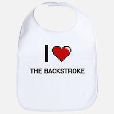 I Love The Backstroke Digital Design Bib