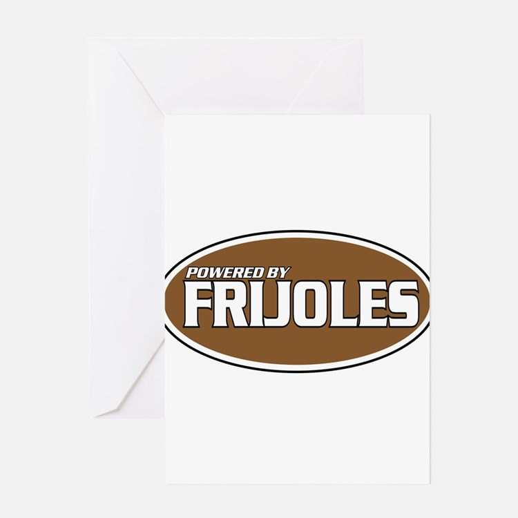Powered By Frijoles Greeting Card