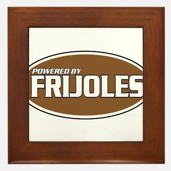 Powered By Frijoles Framed Tile