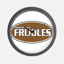 Powered By Frijoles Wall Clock
