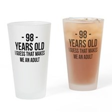 98 Years Old Adult Drinking Glass