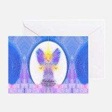 444 Angel Crystals Greeting Card
