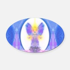 444 Angel Crystals Oval Car Magnet
