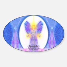 444 Angel Crystals Sticker (Oval)