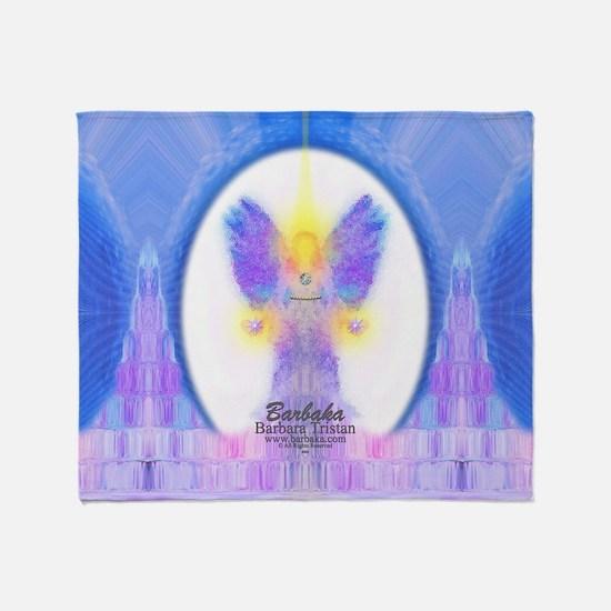 444 Angel Crystals Throw Blanket