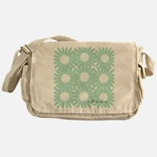 Cute Mint Floral Messenger Bag