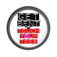 GET BENT - TOUCH YOUR TOES Wall Clock