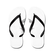 Chai Life in Hebrew text Flip Flops