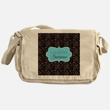 Hand Drawn Hearts Personalized Messenger Bag