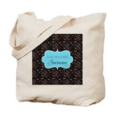 Hand Drawn Hearts Personalized Tote Bag