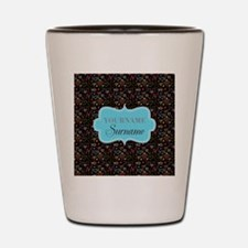 Hand Drawn Hearts Personalized Shot Glass