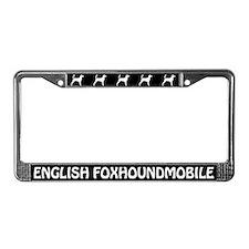 English Foxhoundmobile License Plate Frame